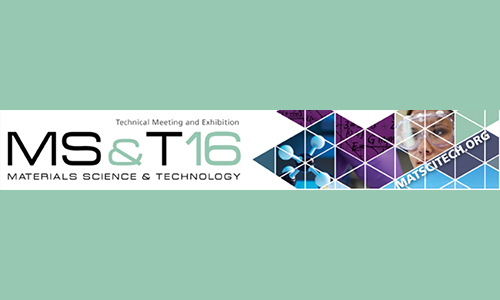 Materials Science & Technology - MS&T 2016 - CompositesPress