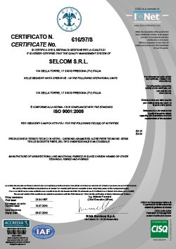 Selcom Multiaxial Fabrics certifications