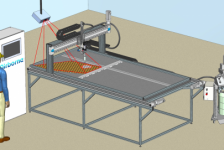 Automated Honeycomb Potting machine Airborne and ViscoTec