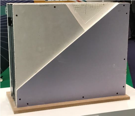 © Siniat - Chomarat laid glass scrim reinforces Siniat Securtex® attack-resistant plasterboard