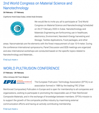 2nd world congress on material science and nanotechnology | world pultrusion conference