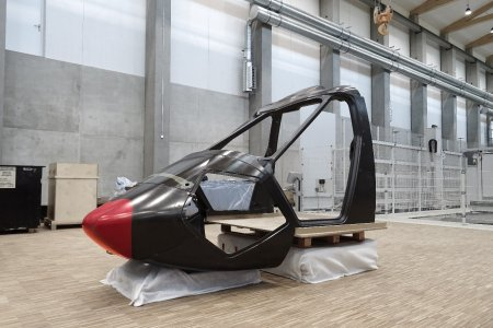 First complex fiber composite component enables light and safe canopy structure for RACER